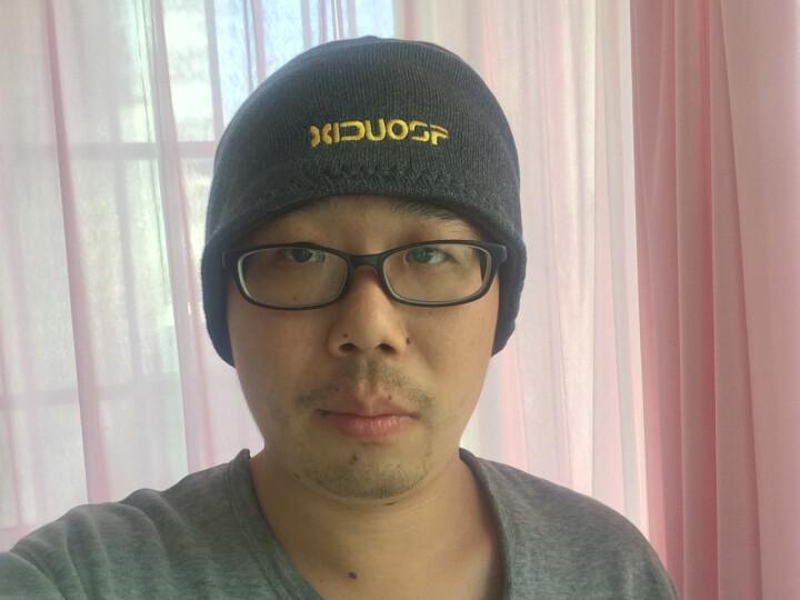 喜多尚品加绒帽子男女冬韩版潮滑雪帽护耳针织抓绒毛线帽 灰色 均码弹力大 晒单图
