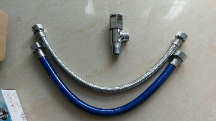 九牧(JOMOO) 卫浴配件不锈钢塑钢管双头软管耐高温抗拉伸弯曲塑钢管  H4139 100CM 晒单图