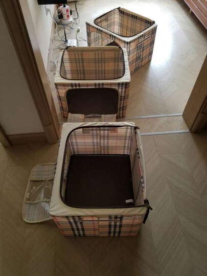 加大号牛津布收纳箱 三件套收纳袋衣物棉被整理箱钢架储物箱 覆膜橙熊一家 小号30*20*17cm 晒单图