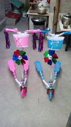 多米儿(duomier) 童滑板车三轮车蛙式滑板车闪光轮可折叠摇摆剪刀扭扭车双后刹 升级款-双刹蓝色 晒单图