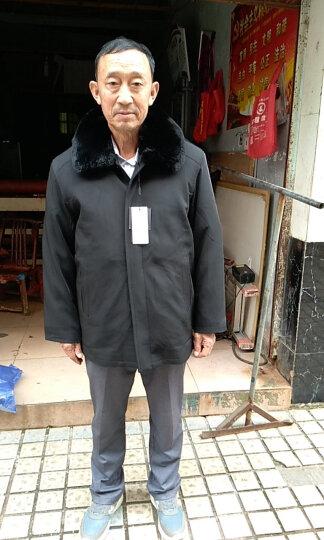 筋霸中老年棉衣男中年加厚外套老年人棉服男冬装爸爸装可拆卸内胆棉袄 黑色 175(110斤-125斤) 晒单图