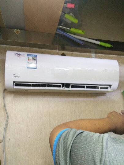Midea/美的大1.5匹省电星空调冷暖静音定速壁挂式挂机KFR-35GW/DY-DH400(D3) 晒单图