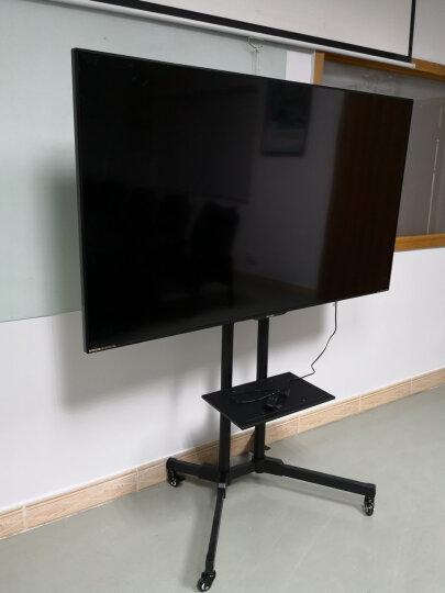 Brateck(37-70英寸)电视推车 落地电视挂架 移动电视机支架 视频会议显示屏电子白板架 带上下托盘T1028T 晒单图