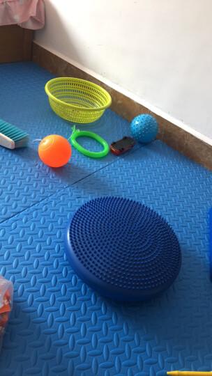 儿童成人蹦蹦球QQ炫舞跳跳球弹跳球单脚甩球幼儿园感统训练器材 Q跳球塑料圈蓝色 晒单图