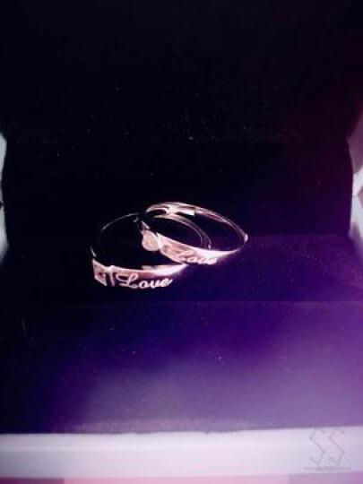 拾爱 925银情侣戒指 真爱对戒活口一对价银饰品 男女戒子心形指环免费刻字 送女友老婆生日 芳心之恋开口一对价可调节大小 晒单图