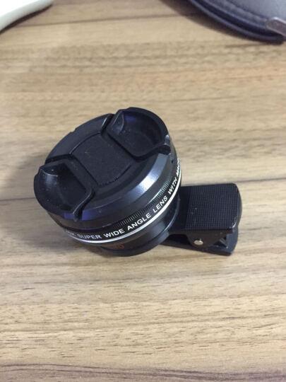 小天手机镜头超广角微距拍照神器套装通用单反外置摄像头安卓苹果通用 专业版【黑】二合一 晒单图