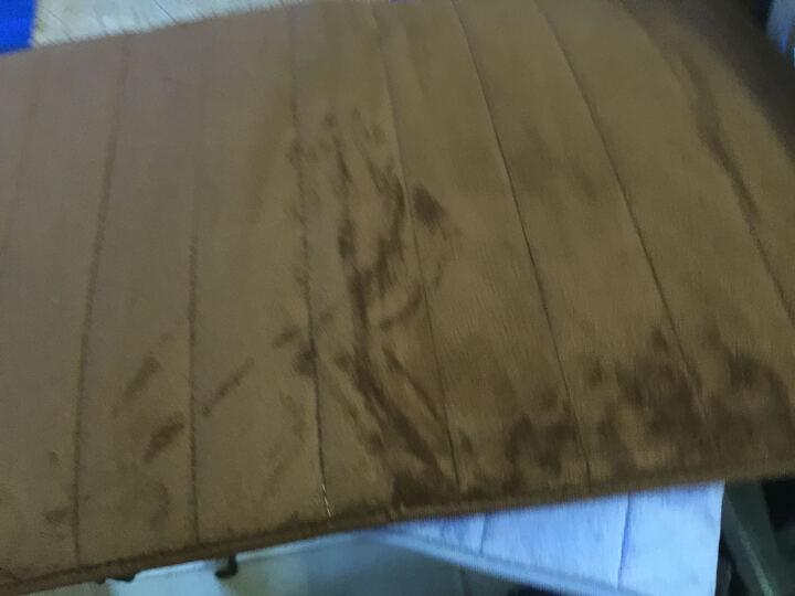 乔之宇 慢回弹记忆海绵珊瑚绒地毯 吸水防滑垫子 厨房卫生间浴室门口地垫 2CM加厚 网格蓝色 批量定制-联系客服改价格 晒单图