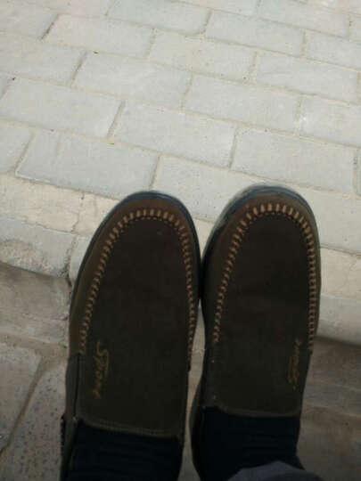 颐福元老北京布鞋男春秋休闲鞋爸爸鞋套脚单鞋透气轻便户外鞋 绿色 38 晒单图