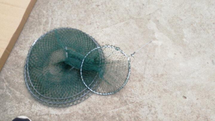 胶丝线鱼护软钢丝折叠鱼篓简易便携渔护鱼兜渔具渔网垂钓用品加长鱼护 3层 晒单图