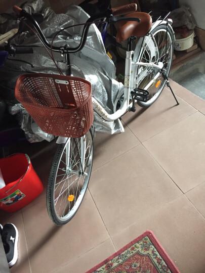 凤凰(Phoenix) 城市自行车轻便通勤自行车女式学生男女复古公主淑女单车 24寸莉莉 白色 晒单图
