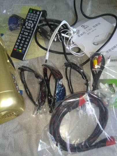 爱酷巴LED 投影仪 家用 智能家庭影院高清投影机 金色标配+幕布 晒单图