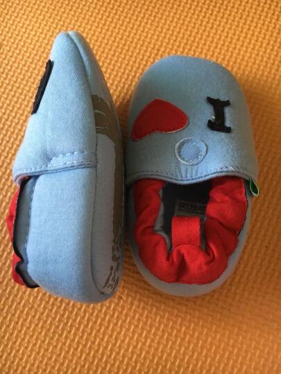 德乐宝(delebao) 德乐宝婴儿鞋0-1岁学步鞋棉布软底宝宝不掉鞋婴儿童鞋 红领结 13码数 晒单图