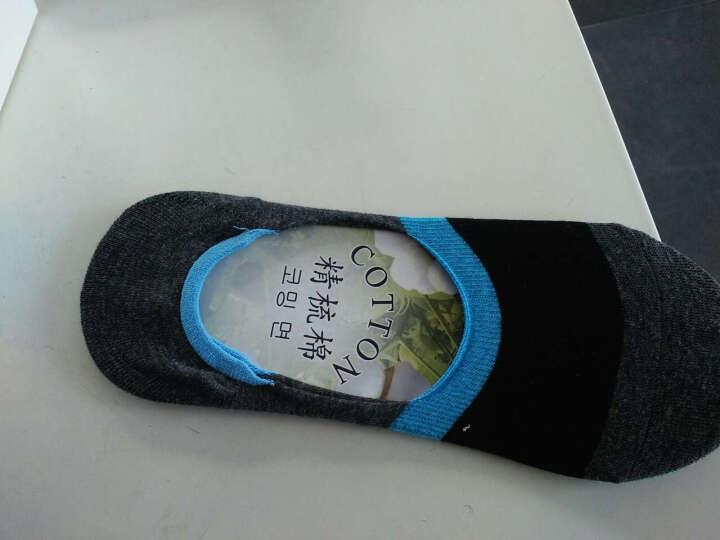 南极人 男袜礼盒装菱格纹船袜防脱隐形袜运动短袜子男士纯色棉袜夏季浅口袜 365撞色6双装船袜 晒单图