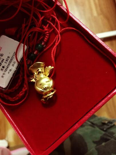 永坤    女黄金吊坠3D硬足金999吊坠女宝宝项坠 福星天使 智慧宝宝2.36克 晒单图