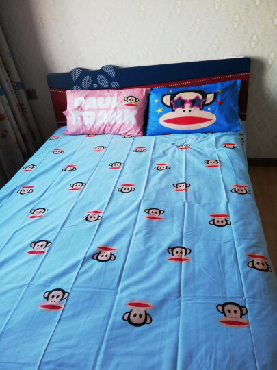 大嘴猴PaulFrank 床上四件套家纺 纯棉卡通大嘴猴印花双人床单被套组合全棉床上用品套装 哈喽 1.5m床/1.8m床【适合200×230被子】 晒单图