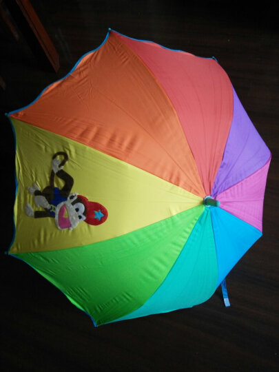 天堂伞 七彩童年儿童黑胶彩虹伞小学生卡通公主防晒晴雨伞太阳伞 萌萌狗 晒单图