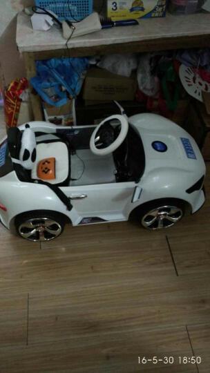 乐逗 儿童电动车 四轮童车可坐 宝宝玩具车可遥控小孩电动汽车可以吹泡泡的童车 白色 带吹泡泡功能+后备箱+一键启动+2.4G遥控 晒单图