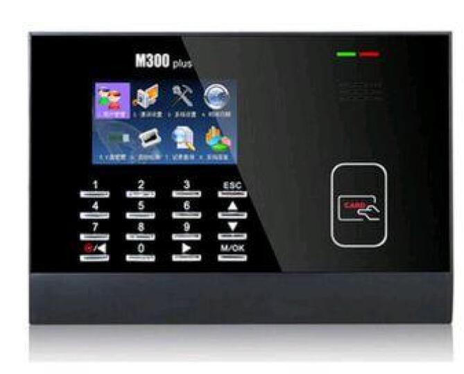 中控智慧(ZKTeco)M300plus读卡考勤机 ID/IC射频卡考勤签到机 中控考勤 M300标配主机+ID卡识别模块 晒单图