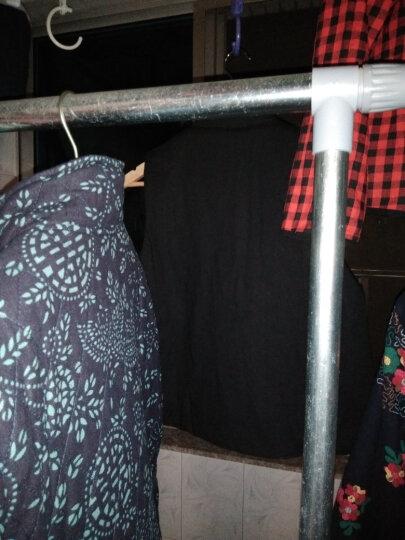 子牧棉麻 2018冬季新款 女民族风复古女装外套棉麻中式青花长款加厚棉服女0030 黑色 XL 晒单图