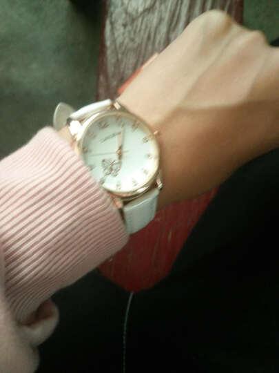 手表可爱时尚夜光手表皮带表防水女士手表女高中学生韩版简约潮流 蝴蝶款—白色(送黑色表带) 晒单图
