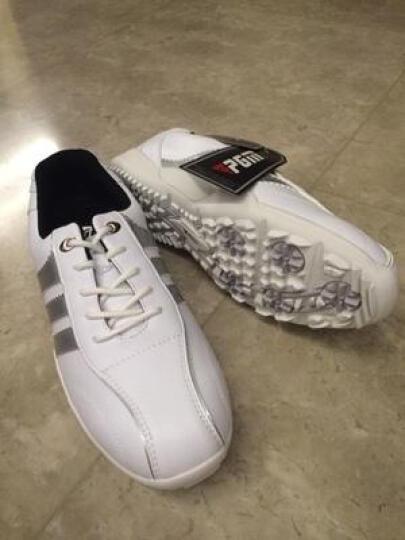 包邮 PGM正品 高尔夫球鞋 男士款运动鞋子 超轻固定钉防水休闲鞋 黑银色 43码 晒单图