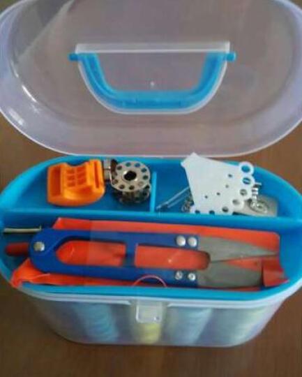 迈利达 透明收纳针线盒套装 家用缝纫修补DIY缝纫线工具 缝纫线便携式迷你针线包 绿色 晒单图