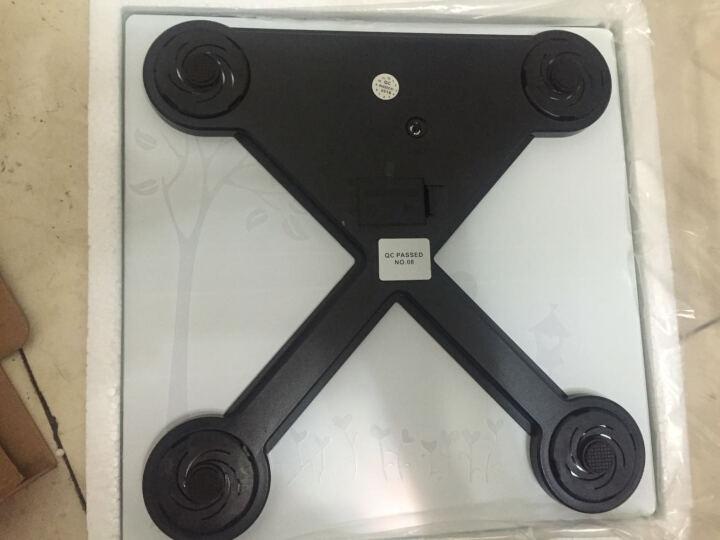 拜杰(Baijie)电子人体秤体重称 家用钢化玻璃人体秤精准台称电子称 粉色 晒单图