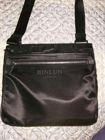 宾伦BINLUN 男包单肩包斜挎包男士休闲尼龙布包ipad包 BL0251 黑色 大号 晒单图