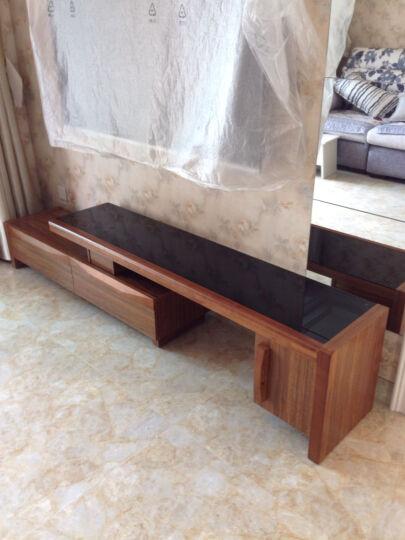 派林隆 电视柜组合简约钢化玻璃客厅小户型客厅家具(1.2.3号小柜单独购买不包安装) 2.2-3.2米可伸缩电视柜 晒单图
