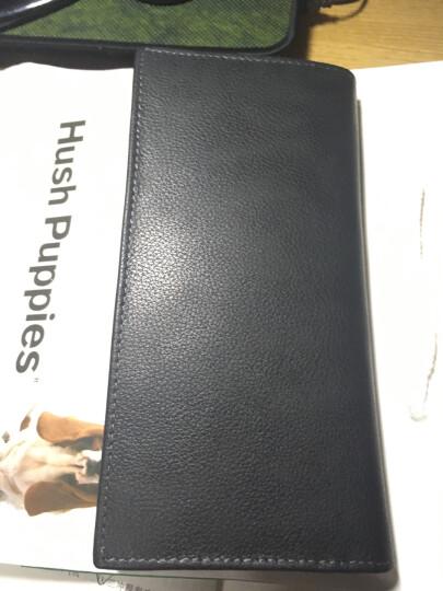 美国暇步士Hush Puppies 真皮男士钱包 长款优质头层牛皮钱夹 商务休闲长款卡片皮夹 黑色 晒单图