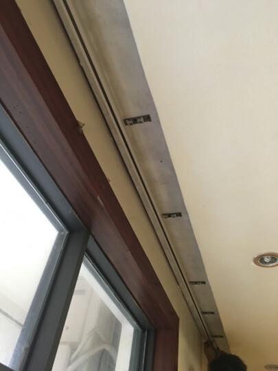 窗帘轨道导轨滑轨配件卡子卡扣安装码单双辅料弯轨直轨固定卡膨胀管螺丝配套滑轮走珠窗帘挂钩 万用双侧(墙)码/每个 晒单图