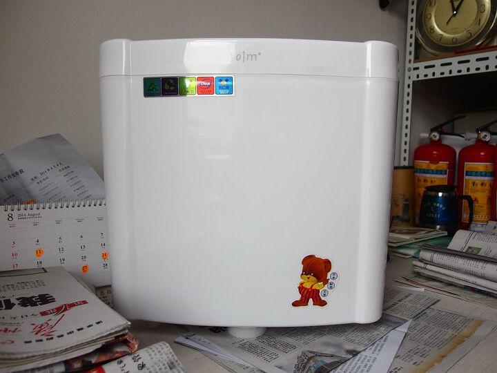 欧吉美 水箱 蹲便器节能冲水箱 双按式 厕所静音卫浴水箱JD002款 蹲便器水箱 02款 晒单图