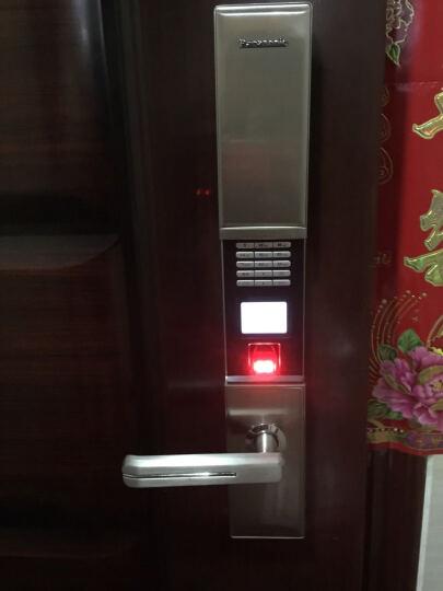 松下/Panasonic指纹密码锁 家用防盗门锁 电子智能锁 门禁锁芯V-N620C/L 香槟银 右开门 无天地钩 晒单图