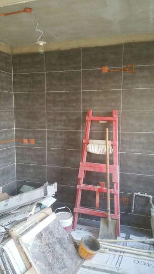 圣亚高瓷砖 卫生间厨房瓷砖地板砖 文化石仿古砖 厨卫墙砖 银灰  300*300/片 晒单图