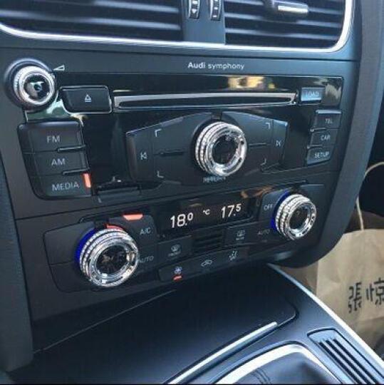 形动(ONGO)奥迪Q3专用汽车内饰改装配件音响旋钮装饰车贴 12-16款奥迪Q3 银色一套3个 晒单图