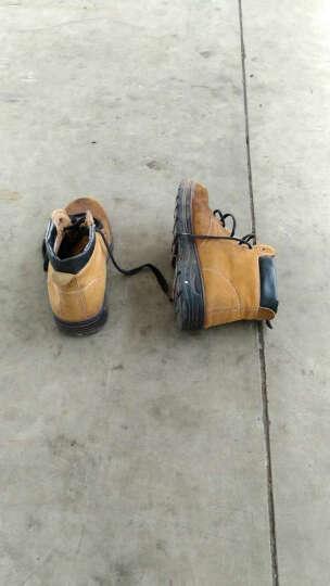 谋福 翻毛牛皮劳保鞋工作鞋户外鞋   橡胶大底耐油酸碱  轻便/舒适 39 晒单图