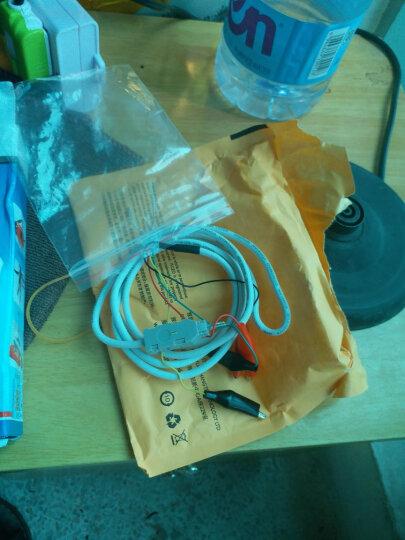 IT-CEO  电话语音模块/配线架测试线 交换机测试线 四芯科隆测试绳 鳄鱼夹子转鸭嘴头 白色 Y1CS-1 晒单图