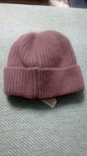 中老年帽子女冬加绒加厚保暖棉老人毛线帽针织帽冬季妈妈潮 浅咖色(帽子+围巾)套装 晒单图