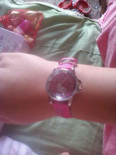 凯蒂猫(hellokitty)儿童手表女孩石英真皮手表指针表小学生时尚女童表 HKFR175-06A 晒单图