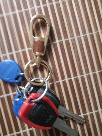 奥美斯(AOMIS)金属汽车钥匙扣 男士女士腰挂钥匙圈创意钥匙链挂件 汽车装饰品 黑镍 现代君爵 格锐 维拉克斯 H 1辉翼美佳 晒单图