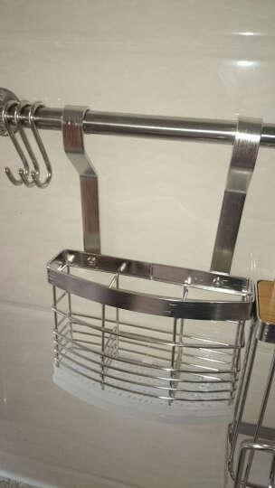 HAOFANGBIAN 不锈钢厨房置物架 壁挂可免打孔墙上刀具砧板调味碗碟子收纳架储物架 不锈钢S款 晒单图