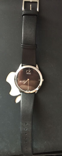 CK卡文克莱(CalvinKlein)手表MINIMAL系列情侣表中性表黑盘黑色皮带钻刻度石英表K3M211CS 晒单图