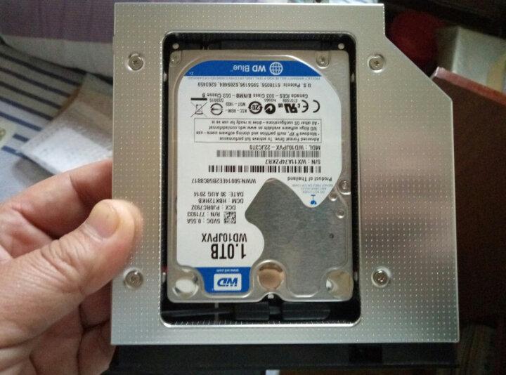索厉(suoli)12.7mm笔记本光驱位SATA硬盘托架硬盘支架 银色 (适合SSD固态硬盘/免工具/SLA11) 晒单图