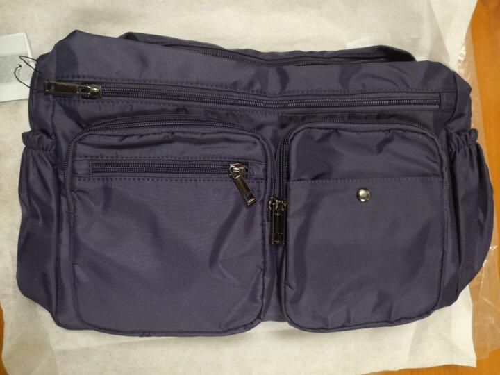 千品鱼新款韩版女士斜挎包轻便休闲包旅行包多口袋实用女包大容量 黑色 晒单图