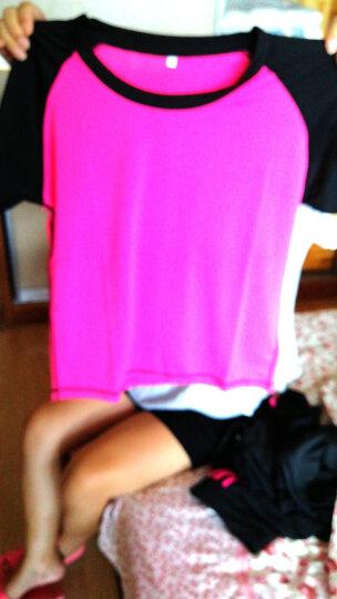 斯卡龙 运动套装女春秋季新款运动外套长裤瑜伽服套装跑步大码速干衣修身背心t恤健身运动短裤运动服五件套 灰A款 M 晒单图