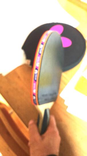 蝴蝶(Butterfly)五星乒乓球拍直拍 双面反胶皮比赛底板TBC501单拍 内附拍套 晒单图