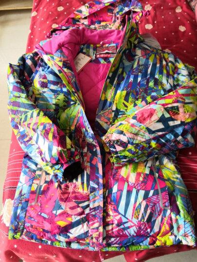 斯博兰帝 儿童滑雪服男童女童款 加厚保暖户外防寒服 丛林玫红色 150 晒单图