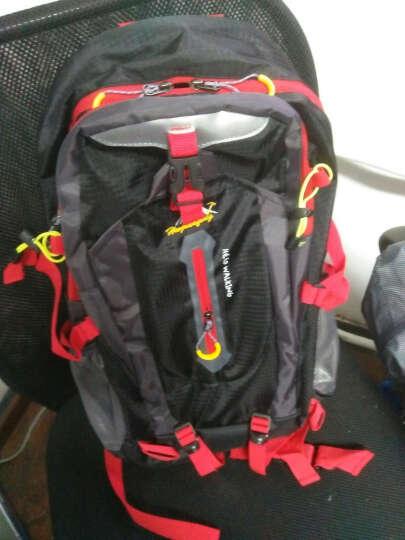 户外尖锋(Huwaijianfeng) 户外尖峰 时尚户外背包登山包双肩背包旅行包40L 韩版黑色 晒单图
