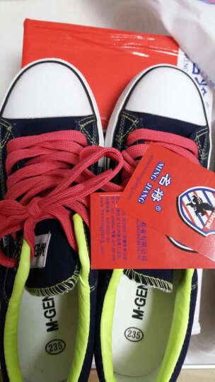 名将 春季韩版内增高学生帆布鞋女厚底低帮女式休闲鞋糖果色平底板鞋 6278 深蓝色(内增高) 37 晒单图