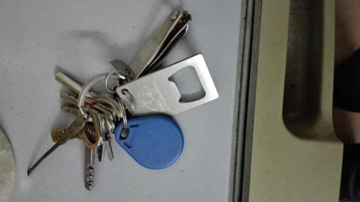 丛林豹 汽车钥匙扣 金属 挂件装饰品 304不锈钢便携式瓶开器防丢牌 可刻字电话号码 拉丝工艺 晒单图